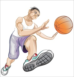 Ball player vector