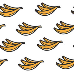 banana fruits seamless pattern tropical organic vector image