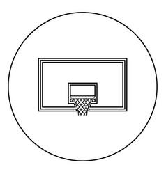 Basketball backboard basketball hoop on backboard vector