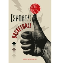Basketball vintage grunge style poster vector