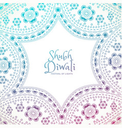 Beautiful floral paisley decoration with shubh vector