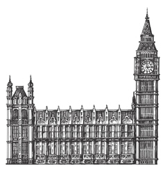 Big ben logo design template london or vector