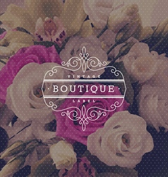 boutique flourishes logo vector image