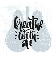 breathe with me vector image