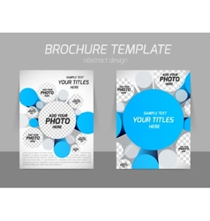 brochure with 3d circles vector image