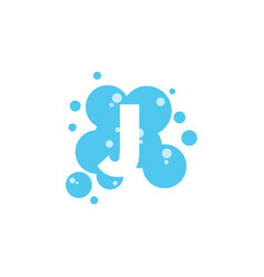 bubble with initial letter j graphic design vector image