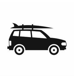 Car with luggage icon simple style vector image