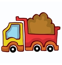 Cartoon Dump Truck design for kids vector
