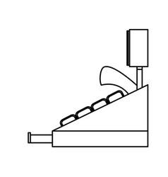 cash register machine vector image