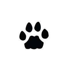cat footprint vector image vector image
