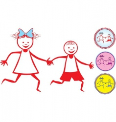 children icon vector image