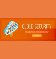 Cloud security banner vector