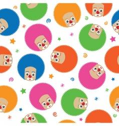 clown pattern vector image