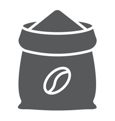 Coffee sack glyph icon coffee and cafe coffee vector