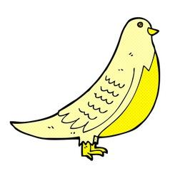 comic cartoon bird vector image