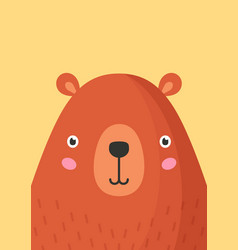 Cute bear snout flat adorable vector