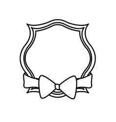 decorative bow ribbon vector image