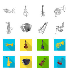 design of music and tune icon set of music vector image
