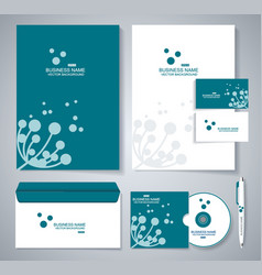 document template design with silhouette of vector image