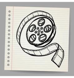 Doodle reel film vector
