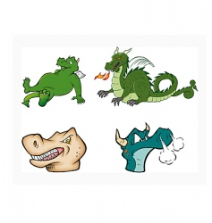 Dragons collection vector