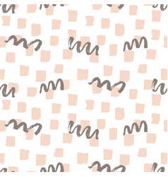 fashion brushes bold seamless pattern vector image