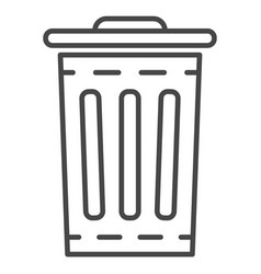 garbage bin icon outline style vector image
