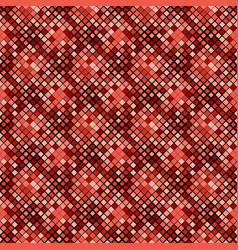 geometrical red diagonal square pattern vector image