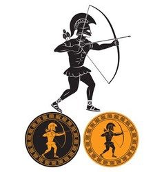 Gladiator arrows vector