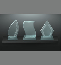 glass award realistic style competition display vector image