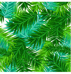 green succulent fir branches seamless pattern on vector image