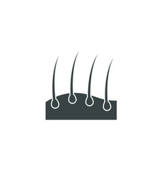 hair icon simple barbershop vector image