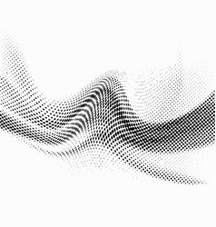 Halftone mesh dotted abstract particle swoosh wave vector