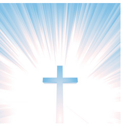 Heaven christian cross vector