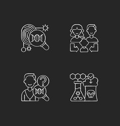 Human reproduction chalk white icons set on black vector