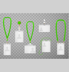 id cards types realistic set vector image