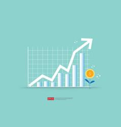 Increase profit sales diagram business chart vector