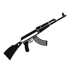 Kalashnikov machine icon simple style vector image