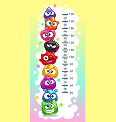 kids height chart vector image