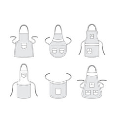 Kitchen aprons professional clothes for cook vector