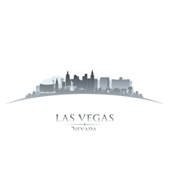 Las Vegas Nevada city skyline silhouette vector image