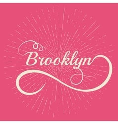 Lettering brooklyn stock vector