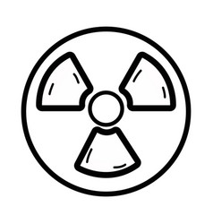Line radiation symbol to dangerous and ecology vector