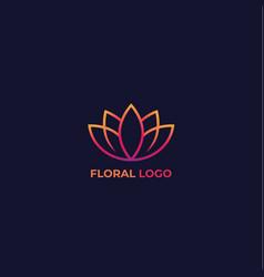 lotus floral logo vector image