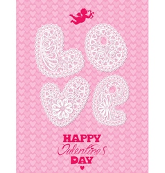 Love lace card 2 380 vector