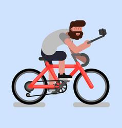man on bike vector image