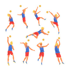 man playing wit ball wearing sports uniform set vector image
