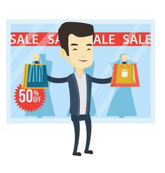 Man shopping on sale vector