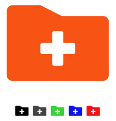 Medical folder flat icon vector