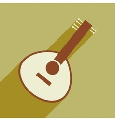 Modern flat icon with long shadow Indian musical vector image